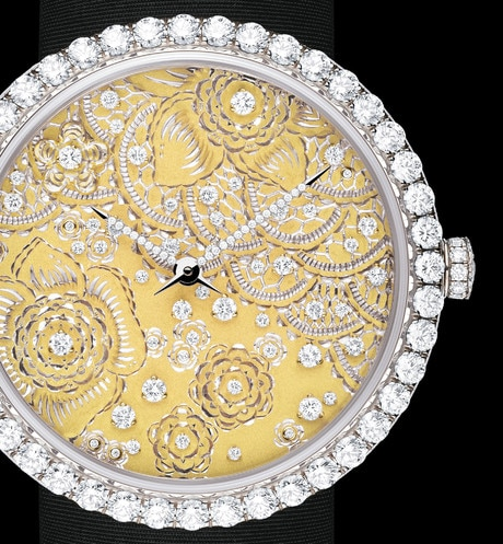 La D de Dior Dentelle  Ø 38mm, quartz movement aria_threeQuarterClosedView