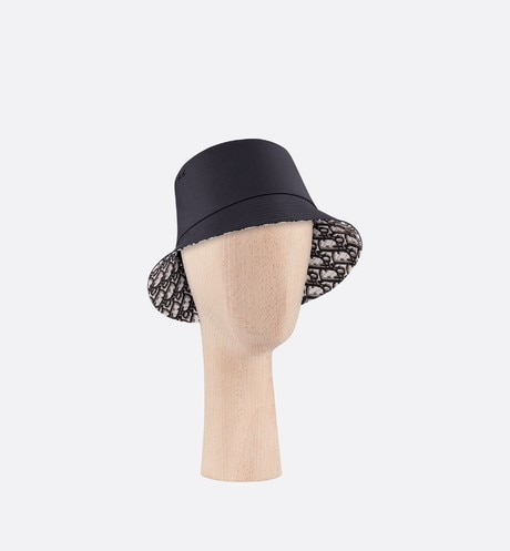 Teddy D CD Oblique black small-brim bucket hat aria_threeQuarterClosedView