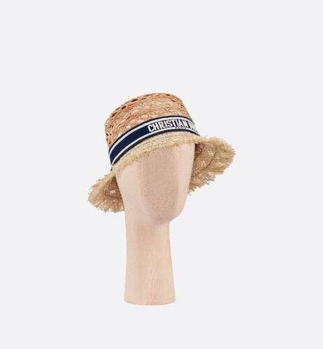 Dior Beach Hat three quarter closed view