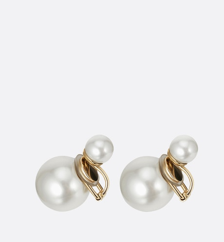 Dior Tribales earrings with a gold-tone finish Gold aria_threeQuarterClosedView