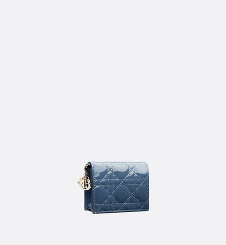 Mini Lady Dior Wallet three quarter closed view Open gallery