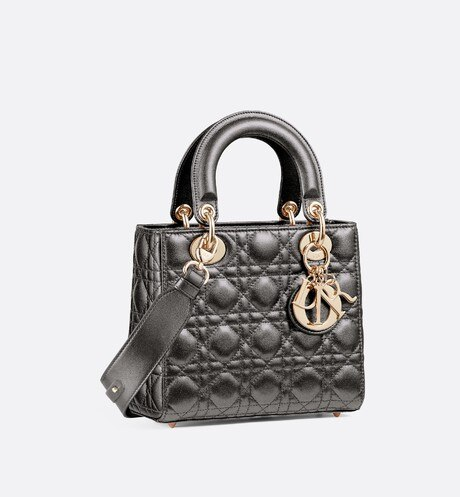 My ABCDior calfskin bag three quarter closed view