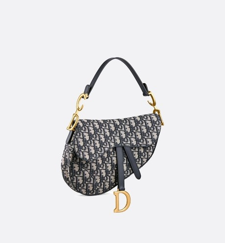 Dior Oblique Saddle bag aria_threeQuarterClosedView