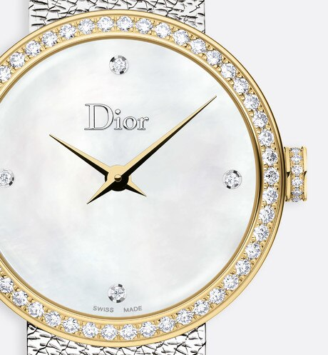 La D de Dior Satine Ø 25 mm, movimento al quarzo aria_threeQuarterClosedView