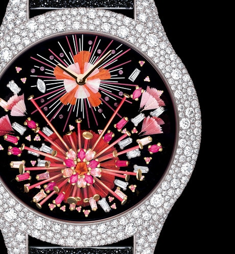 Dior Grand Soir Feux d'Artifice No. 15 Ø 36mm, quartz movement three quarter closed view