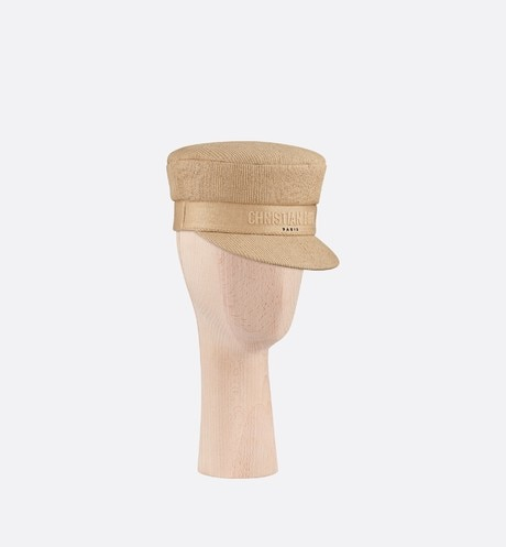 Beige Dior Cotton Cap three quarter closed view