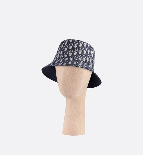 Teddy D CD Oblique blue small-brim bucket hat aria_threeQuarterClosedView