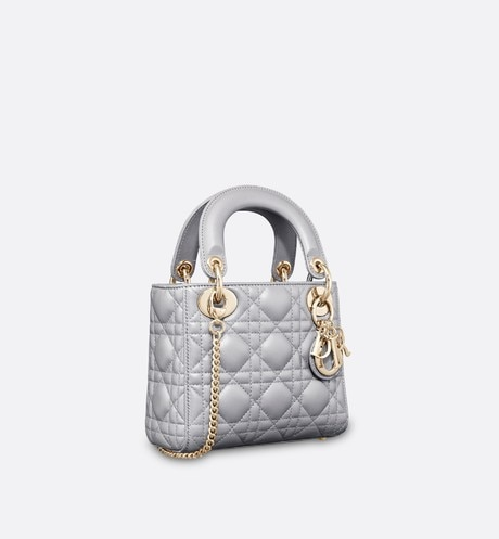 Mini Lady Dior Bag Three quarter closed view Open gallery