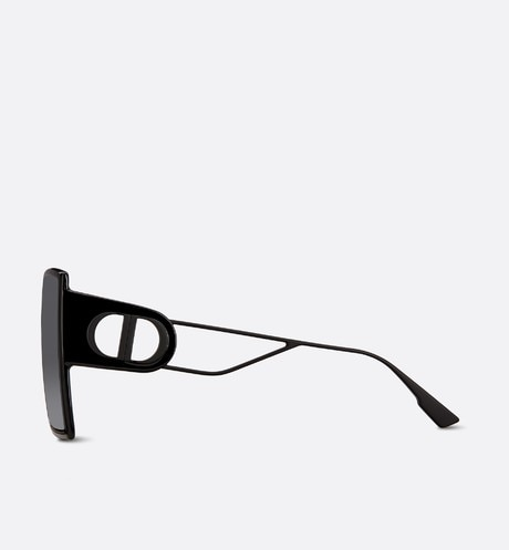 30Montaigne Black Square Sunglasses three quarter closed view