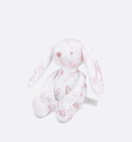 Cotton satin 'Toile de Jouy' print rabbit aria_threeQuarterClosedView