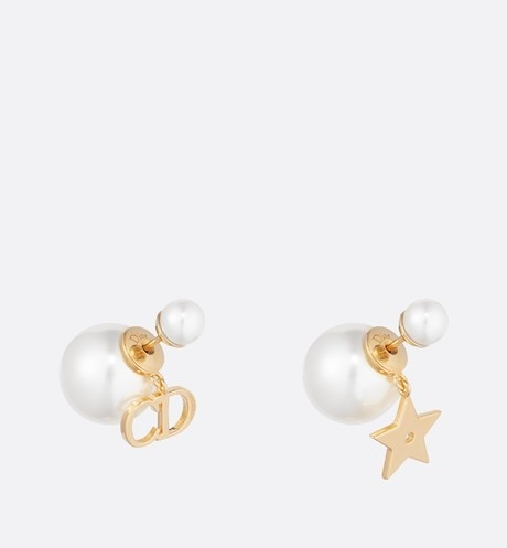 Dior Tribales earrings White aria_threeQuarterClosedView