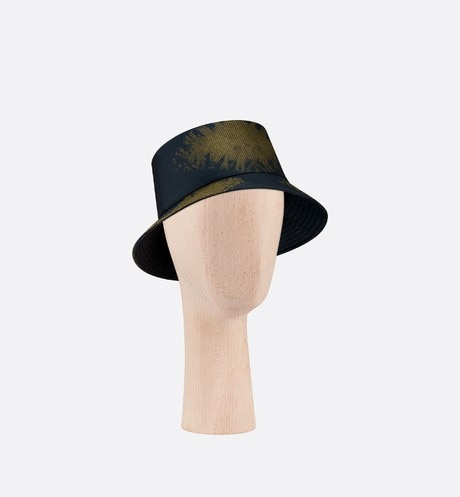 Tie & Dior Small Brim Bucket Hat three quarter closed view