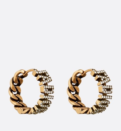J'Adior Hoop Earrings three quarter closed view