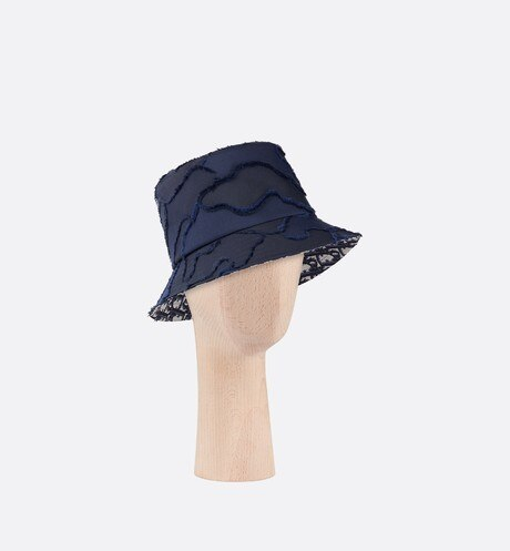 Camouflage Small Brim Bucket Hat Three quarter closed view