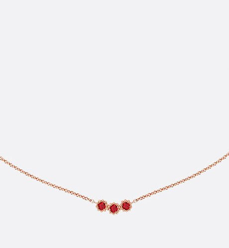 Mimirose necklace, 18K pink gold and rubies aria_threeQuarterClosedView