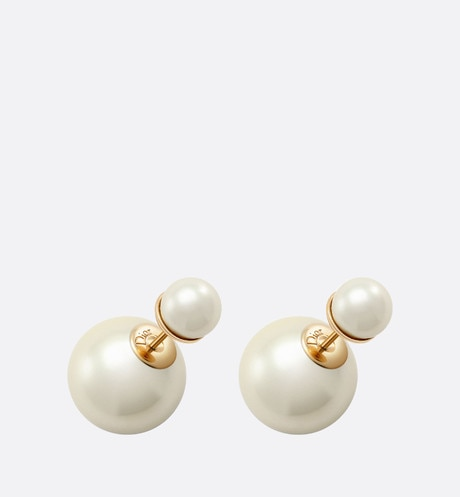 Dior Tribales earrings White aria_threeQuarterOpenedView