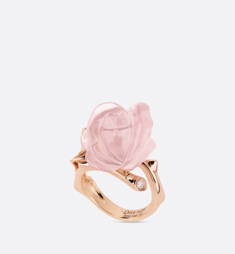 Bague Rose Dior Pré Catelan pm, or rose 750/1000e et quartz rose aria_threeQuarterOpenedView
