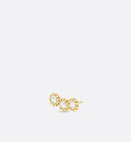 Mimirose earring, 18K yellow gold and diamonds aria_threeQuarterOpenedView