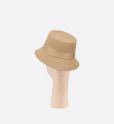 Small Brim Dior Bucket Hat Three quarter back view Open gallery