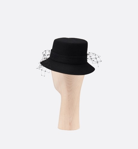 Dior Parisian Hat Three quarter back view Open gallery