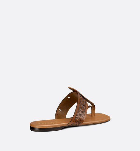 Dior Rosée Thong Sandal Three quarter back view Open gallery