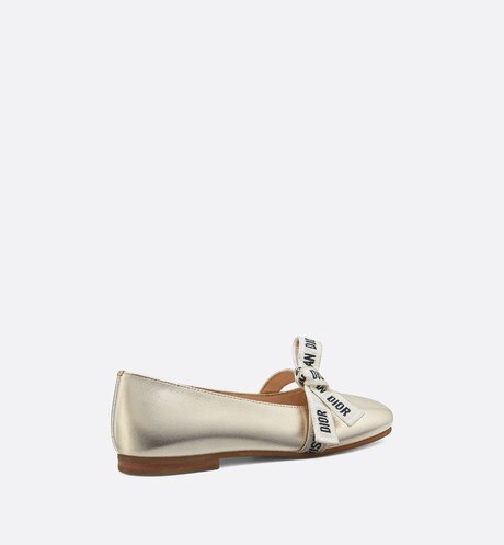 Ballerinas in metallic lambskin aria_threeQuarterBackView