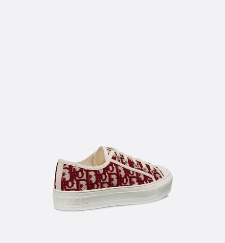 Walk'n'Dior Sneaker in Oblique embroidered canvas aria_threeQuarterBackView