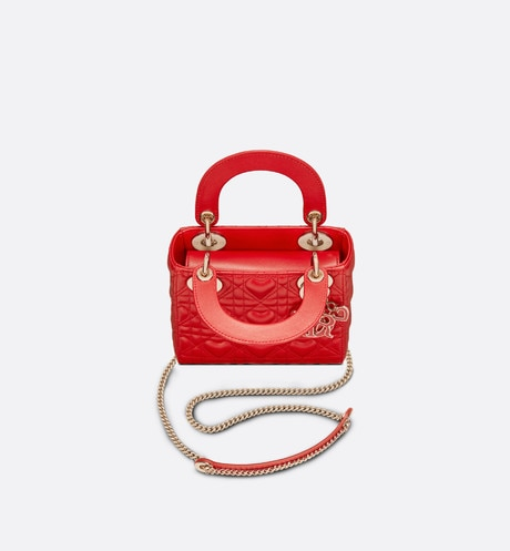 Mini Lady Dior Dioramour Bag Top shot view Open gallery