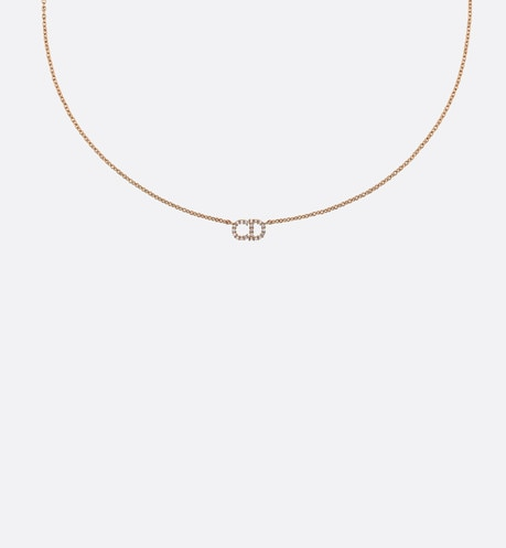 Clair D Lune necklace in gold-tone metal Gold top shot view