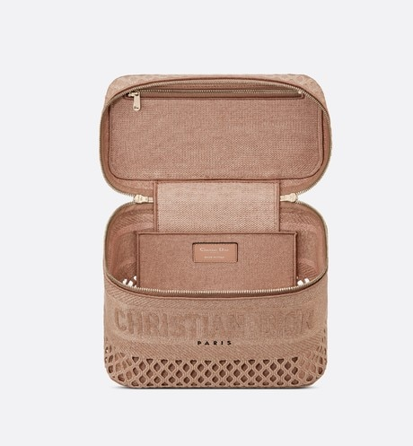 DiorTravel Vanity Case Top shot view Open gallery