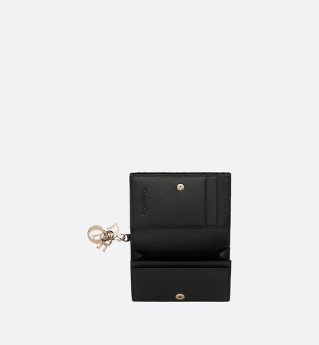 Lady Dior calfskin card holder top shot view