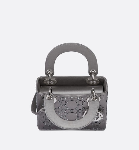 Mini sac Lady Dior en satin aria_topShotView