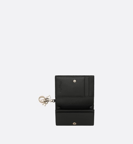 Lady Dior Flap Card Holder Top shot view Open gallery