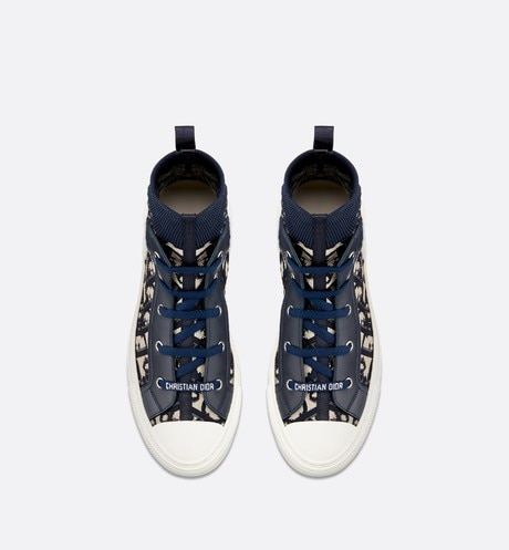 Walk'n'Dior high-top sneaker in Dior Oblique technical knit aria_topShotView