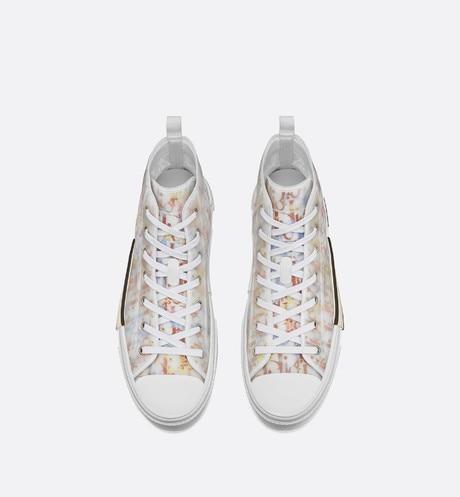 B23 High-Top Sneaker in Multicolor Dior Oblique top shot view