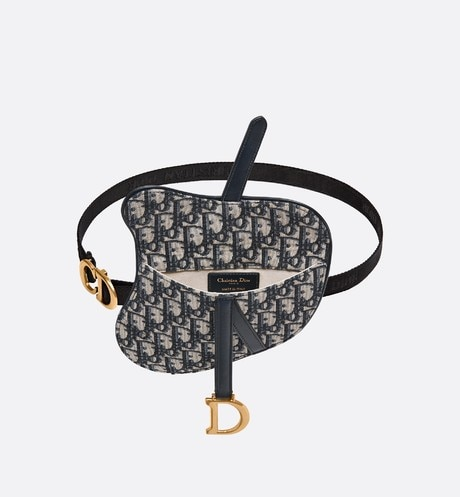 Dior Oblique Saddle belt bag top shot view