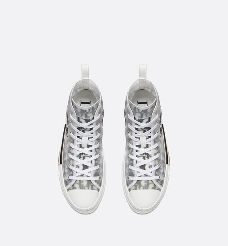 B23 High-Top Sneakers in Dior Oblique top shot view