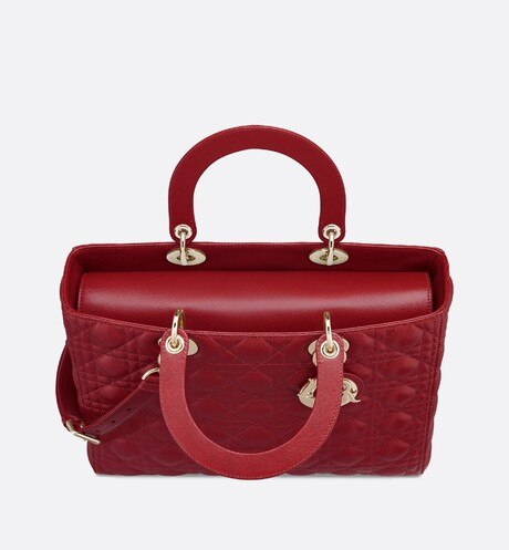Large Cherry Lady Dior Lambskin Bag aria_topShotView