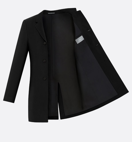 Topcoat, black cashmere aria_unfoldedView