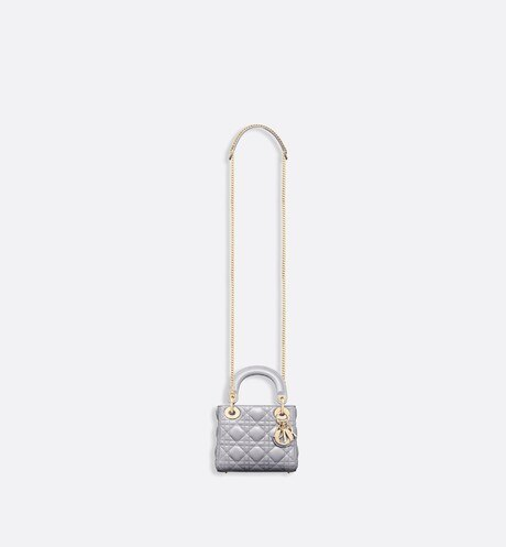 Mini sac Lady Dior en agneau aria_unfoldedView