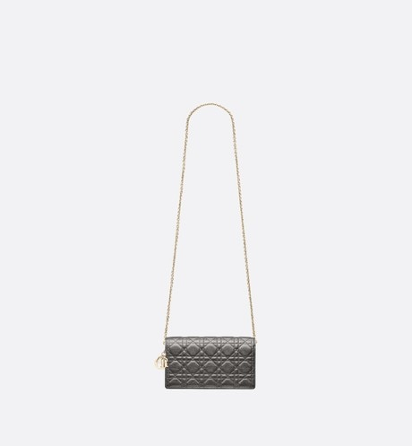 Lady Dior calfskin clutch aria_unfoldedView