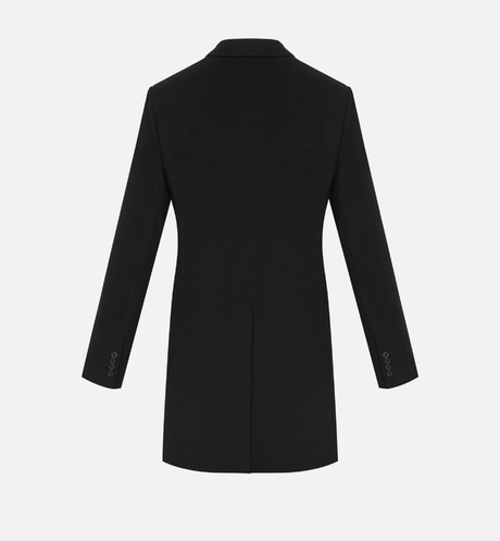 Topcoat, black cashmere aria_backView