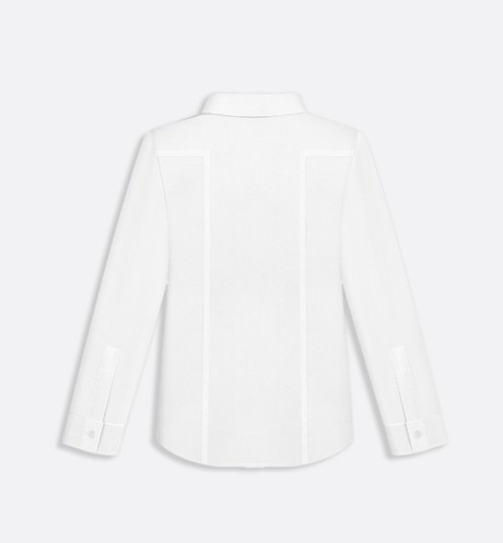Cotton poplin shirt aria_backView