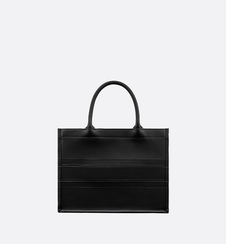 Small Black Calfskin Dior Book Tote aria_backView