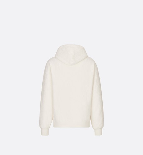 Oversized Hooded Sweatshirt with Dior Oblique Motif Back view Open gallery