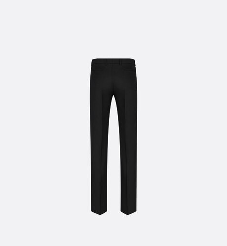 Pantalon en twill de laine noir aria_backView