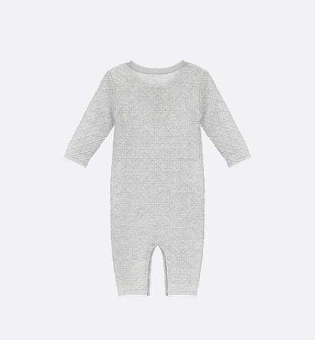 Grey cashmere knit sleepsuit aria_backView