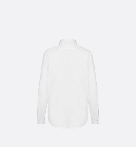 Cotton poplin blouse aria_backView