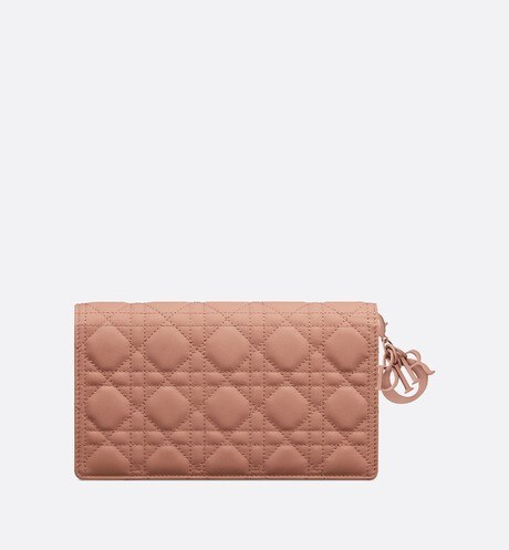 Blush Lady Dior Calfskin Chain Pouch back view