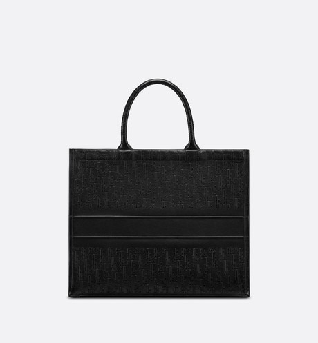 Black Dior Oblique Book Tote Bag aria_backView